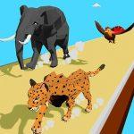 מירוץ טרנספורמציה של בעלי חיים בתלת ממד