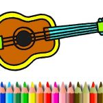 BTS Music Instrument Coloring Book