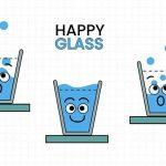 זכוכית מים מחייכת